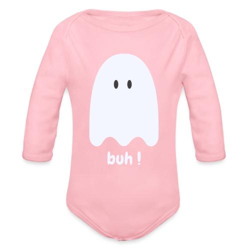 Buh ! - Langærmet babybody, økologisk bomuld