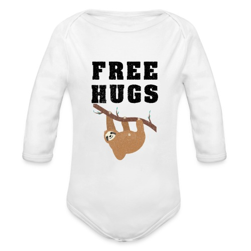 Funny Sloth Quotes - Baby Bio-Langarm-Body