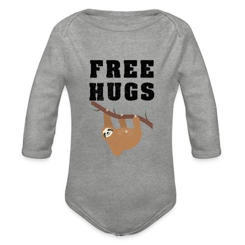 Funny Sloth Quotes - Baby Bio-Langarm-Body