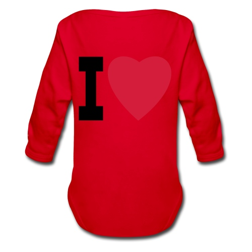 create your own I LOVE clothing and stuff - Organic Longsleeve Baby Bodysuit