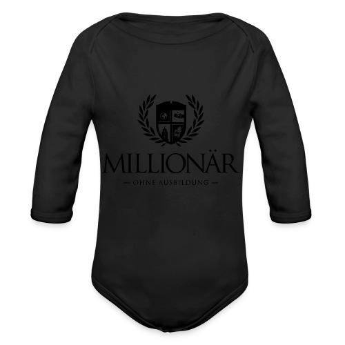 Millionär ohne Ausbildung Shirt - Baby Bio-Langarm-Body