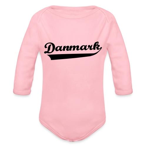 Danmark Swish - Langærmet babybody, økologisk bomuld
