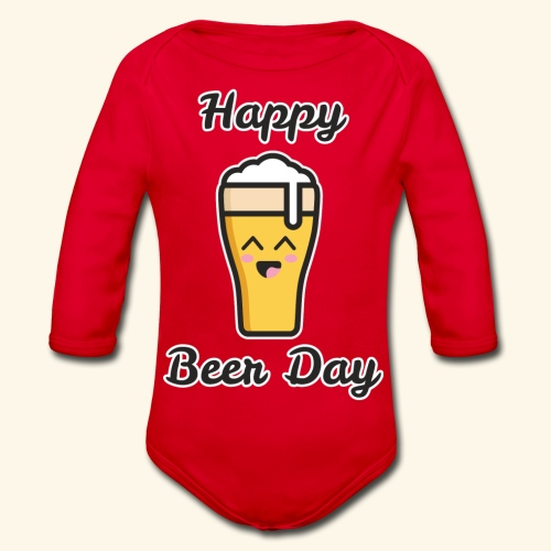 happy beer day - Body Bébé bio manches longues