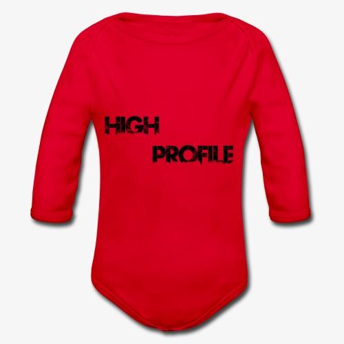 HIGH PROFILE SIMPLE - Organic Longsleeve Baby Bodysuit