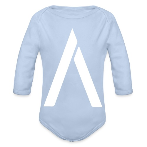 A-hvid - Langærmet babybody, økologisk bomuld