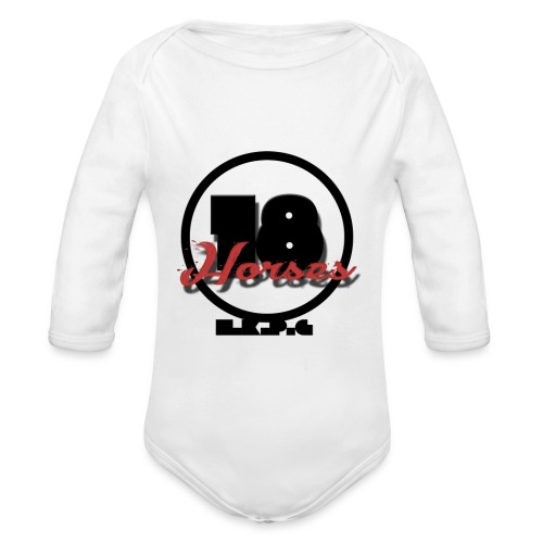 18 Horses - NKPG (Black) - Ekologisk långärmad babybody