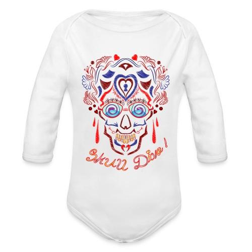 Skull Tattoo Art - Organic Longsleeve Baby Bodysuit