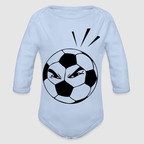 energischer Fußball - Baby Bio-Langarm-Body