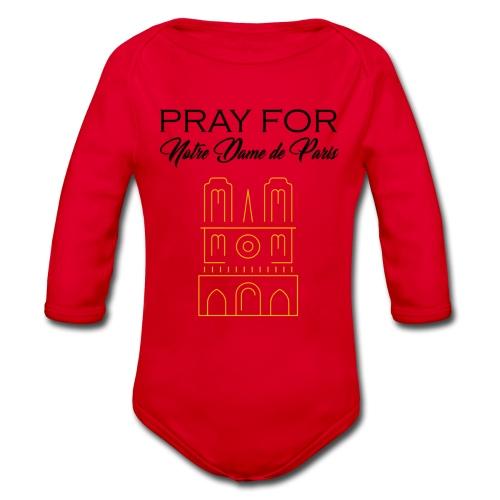 Pray For Notre Dame de Paris - Body Bébé bio manches longues