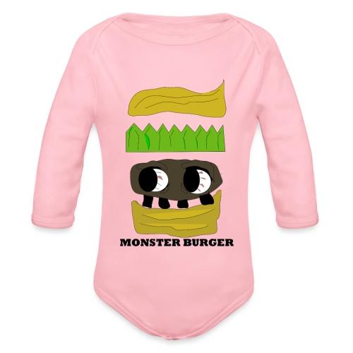 MONSTER BURGER - Baby Bio-Langarm-Body
