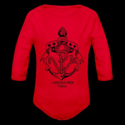 VP Ankkuri - Vauvan pitkähihainen luomu-body