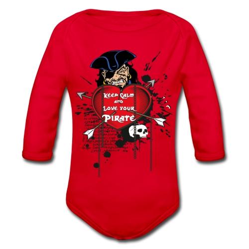 love your pirate - Body ecologico per neonato a manica lunga
