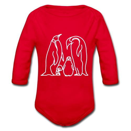 Pinguin Familie Familienshirt Tierfreunde Geschenk - Baby Bio-Langarm-Body