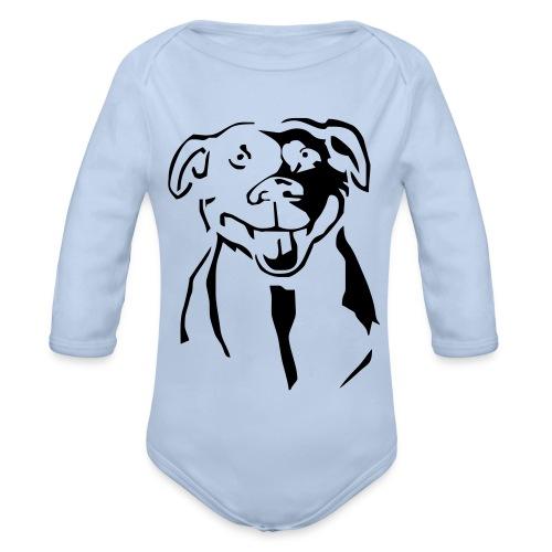 Staffordshire Bull Terrier - Vauvan pitkähihainen luomu-body