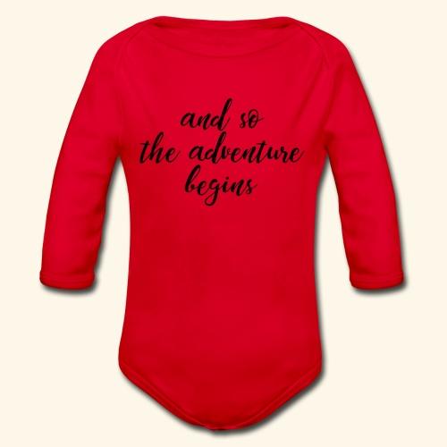 Adventure - Abenteuer - Baby Bio-Langarm-Body