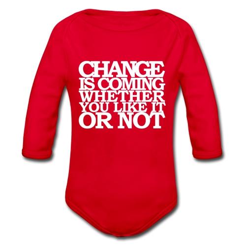 CHANGE IS COMING - Ekologisk långärmad babybody
