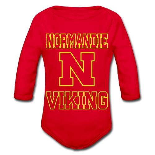 Normandie Viking Def jaune - Body Bébé bio manches longues