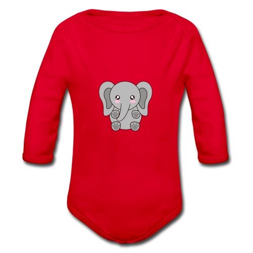 elefante - Organic Longsleeve Baby Bodysuit