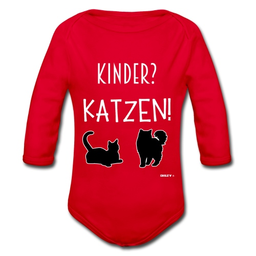 Meine Katzen sind meine Kinder Katzenliebhaber - Baby Bio-Langarm-Body