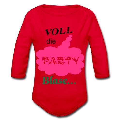 Party Blase - Baby Bio-Langarm-Body