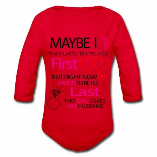 Ich liebe meinen Mann - Geschenkidee - Organic Longsleeve Baby Bodysuit