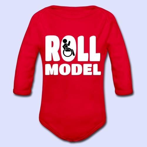Rolstoel Roll model 016 - Baby bio-rompertje met lange mouwen