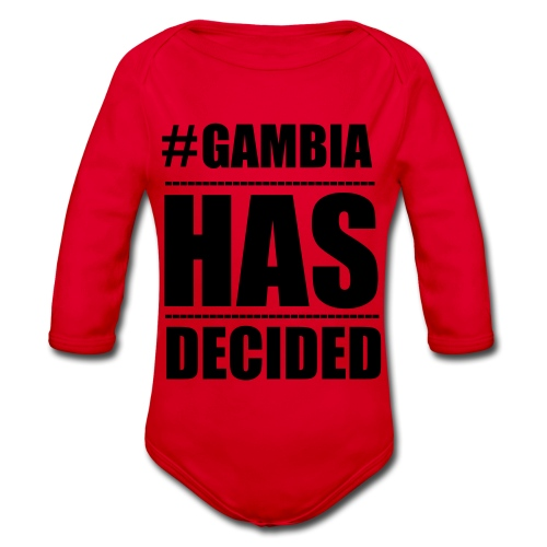 GAMBIA_HAS_DECIDED - Organic Longsleeve Baby Bodysuit