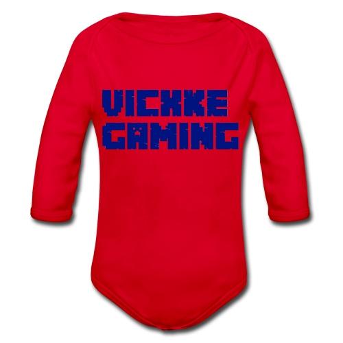 Vicxke_Gaming_ontwerp - Baby bio-rompertje met lange mouwen