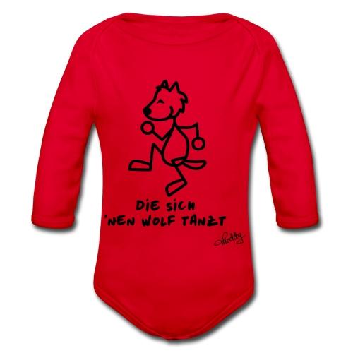 Die sich nen Wolf tanzt - Baby Bio-Langarm-Body