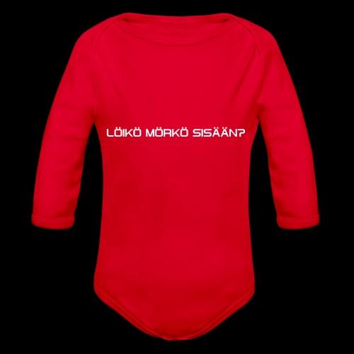 4 - Vauvan pitkähihainen luomu-body