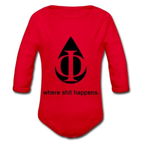 AquaPhi Logo - Organic Longsleeve Baby Bodysuit