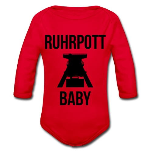 RUHRPOTT BABY - Deine Ruhrpott Stadt - Baby Bio-Langarm-Body