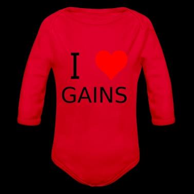 Jag älskar Gains - Ekologisk långärmad babybody