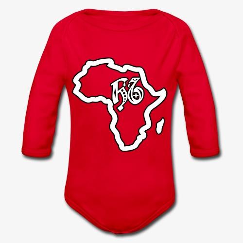 afrika pictogram - Baby bio-rompertje met lange mouwen