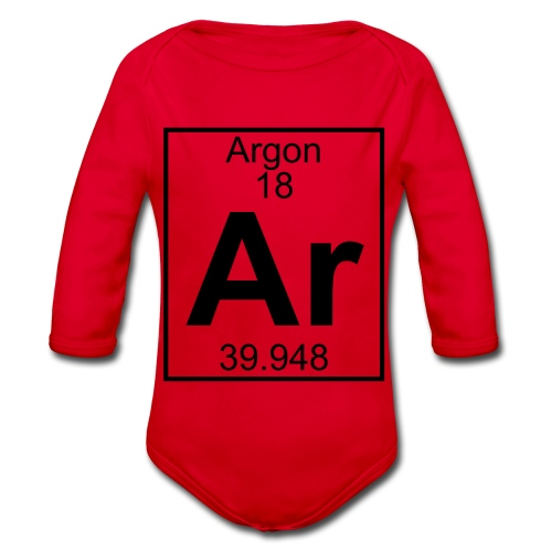 Argon (Ar) (element 18) - Organic Longsleeve Baby Bodysuit