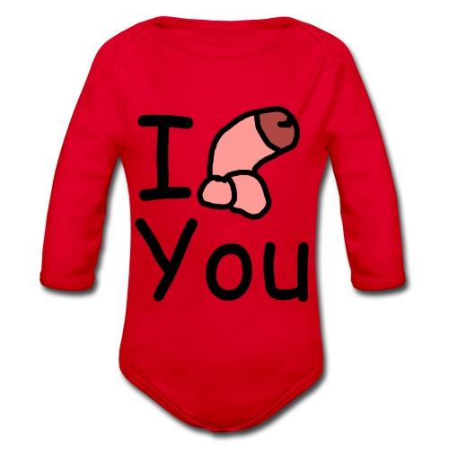 I dong you pillow - Organic Longsleeve Baby Bodysuit