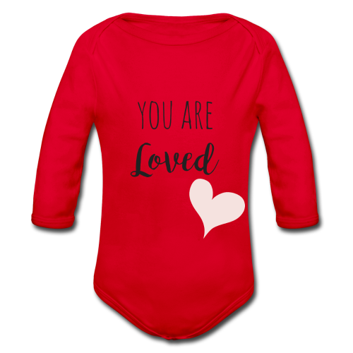 You are Loved - Baby Bio-Langarm-Body