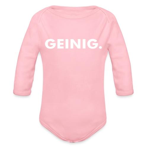 GEINIG. - Baby bio-rompertje met lange mouwen