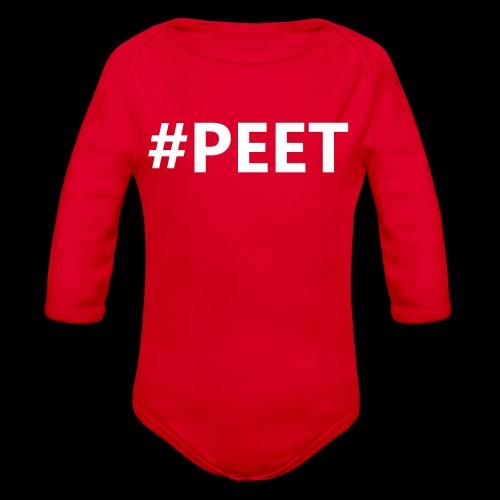 #PEET NO BOX - Baby bio-rompertje met lange mouwen