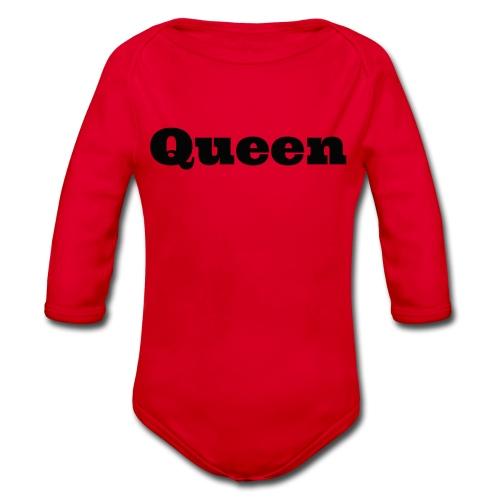 Snapback queen grijs/zwart - Baby bio-rompertje met lange mouwen