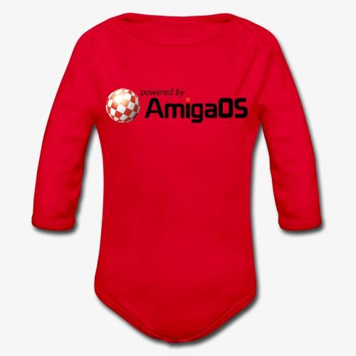 PoweredByAmigaOS Black - Organic Longsleeve Baby Bodysuit