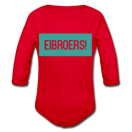 T-shirt Eibroers Naam - Baby bio-rompertje met lange mouwen