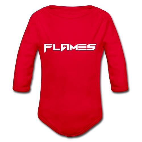 Futuristic Flames Hoodie - Organic Longsleeve Baby Bodysuit