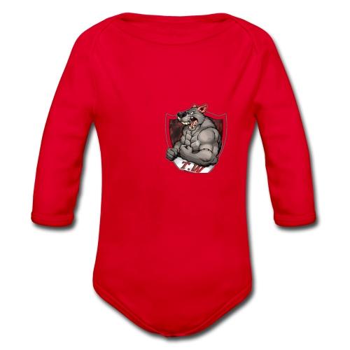 mouse logo - Organic Longsleeve Baby Bodysuit