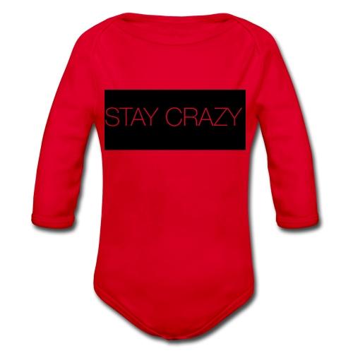 STAY CRAZY - Ekologisk långärmad babybody