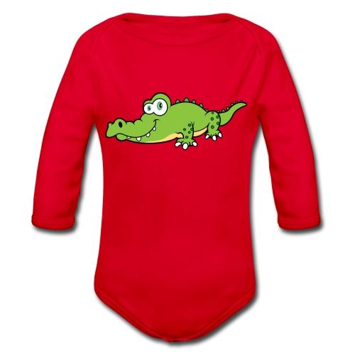Krokodil - Baby bio-rompertje met lange mouwen