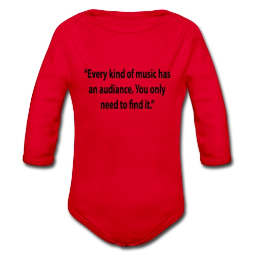Quote RobRibbelink audiance Phone case - Organic Longsleeve Baby Bodysuit