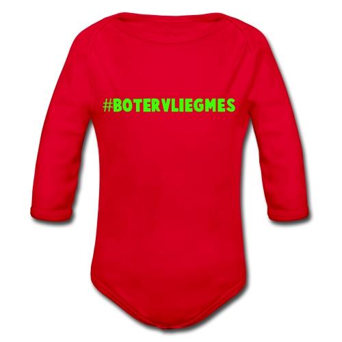 #botervliegmes hoodie (vrouwen) - Baby bio-rompertje met lange mouwen