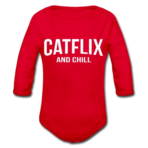 Catflix and Chill - Baby Bio-Langarm-Body