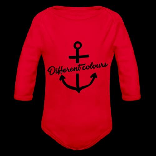 Different Colours Black Logo - Body ecologico per neonato a manica lunga